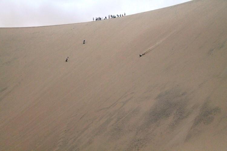 sandboarding in huacachina Peru