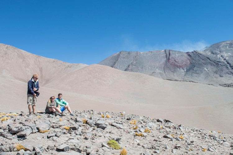 Hiking volcanos: one of the top things to do in Atacama Desert near San Pedro de Atacama, Chile