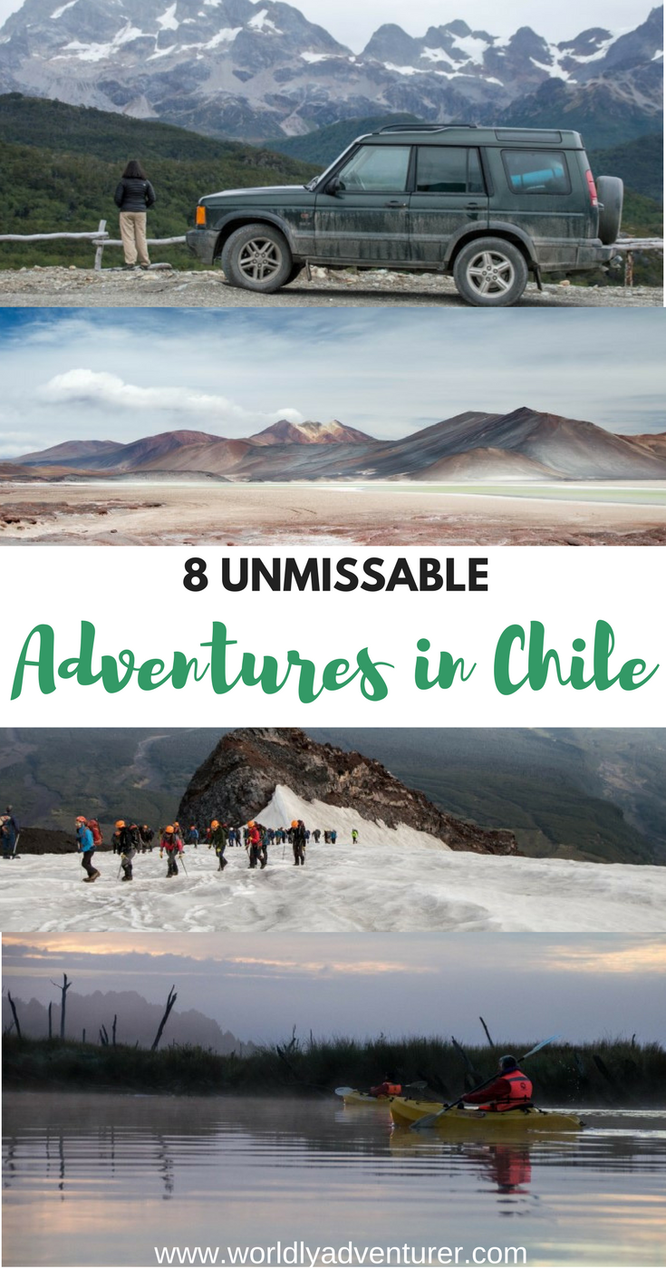 Looking for inspiration for the best places to visit in Chile for an adventure? These eight destinations are abssolutely unmissable, including everything from hiking trails, road trips, wild camping to kayaking and much more!