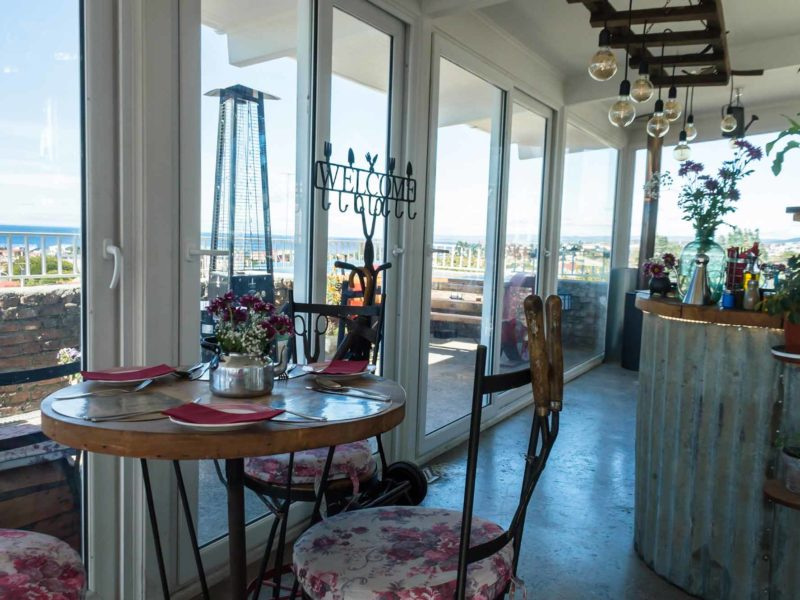 The dining room of La Yegua Loca in Punta Arenas, Chile