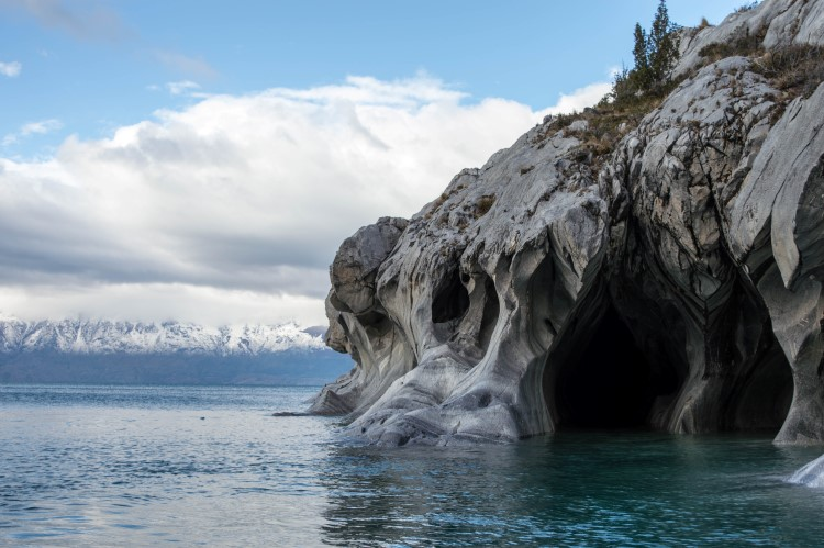 The mineral enriched waters of Lago General Carrera are home to the equally colourful marble caves, another unmissable destination for a one or two week Patagonia itinerary