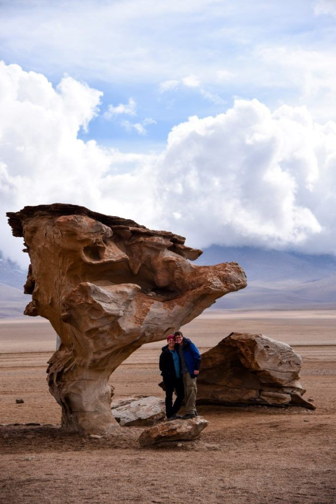 Rock formations in the Dali Desert or Dali Valley, visited as part of a Salar de Uyuni tour, Bolivia.