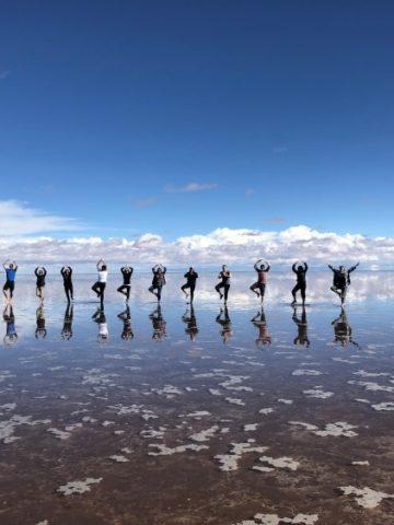 The Salar de Uyuni turns into the world's biggest mirror during the rainy season.