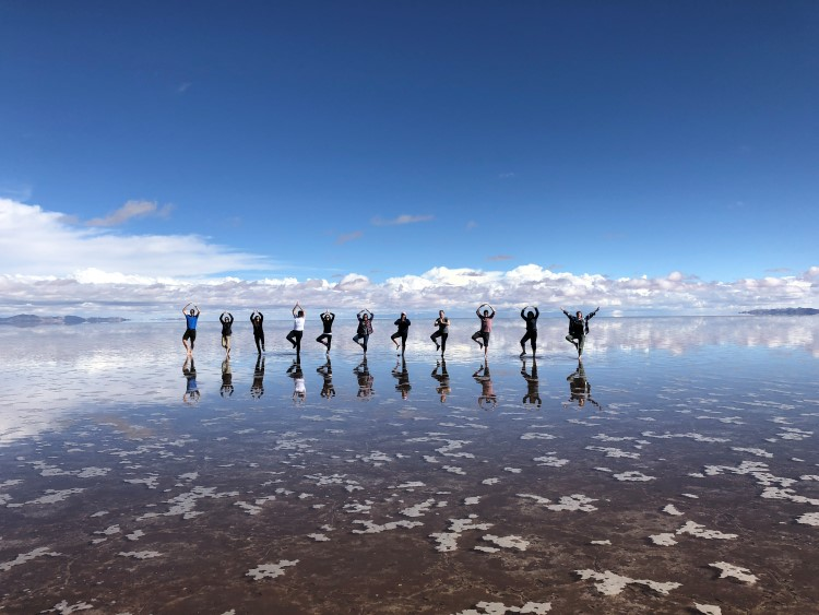 The Salar de Uyuni turns into the world's biggest mirror during the rainy season.