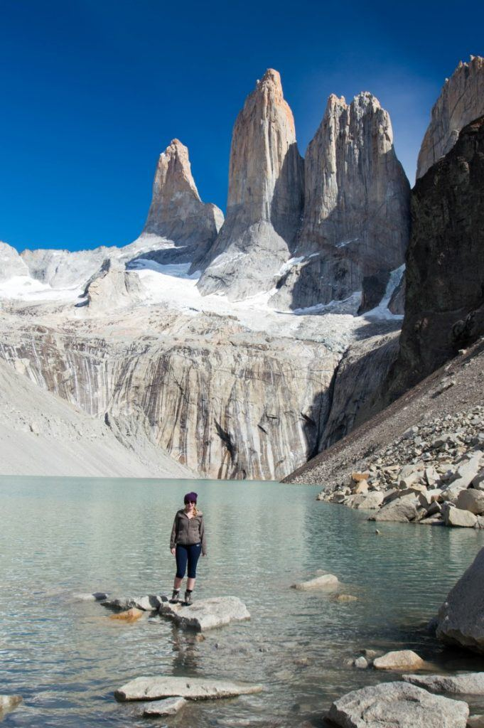 The towers at Torres del Paine National Park. The best time to visit chile and this attraction is in the shoulder season.