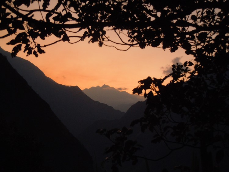 Sunset across the Apurimac Valley in Peru.