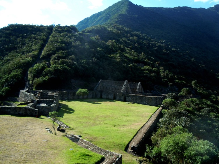 A ceremonial plaza in the Choquequirao ruins.