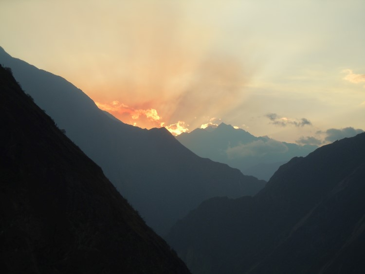 Sunrise along the Choquequirao trail in the Apurimac Valley.