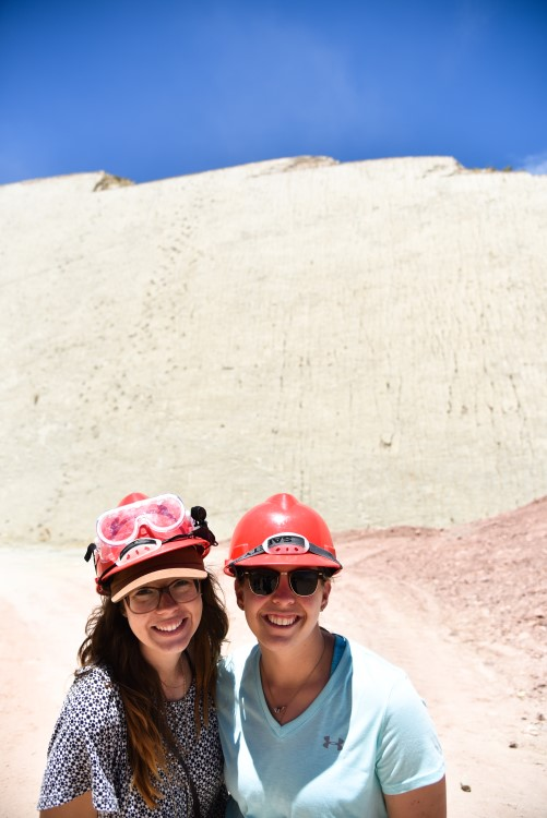 The unmissable dinosaur foortprints at Parque Cretatico, Sucre, one of the best things to do in Bolivia.