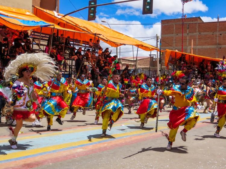 Carnaval dancers in Oruro, Bolivia.