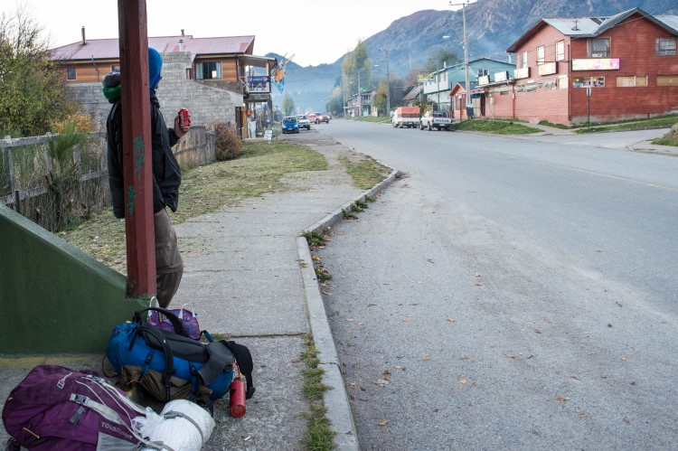 Hitchhiking along the Carretera Austral: a good way of traveling through Patagonia on a budget.