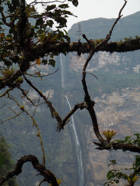 The Gocta Falls as seen on the walk from Cocachimba near Chachapoyas Peru