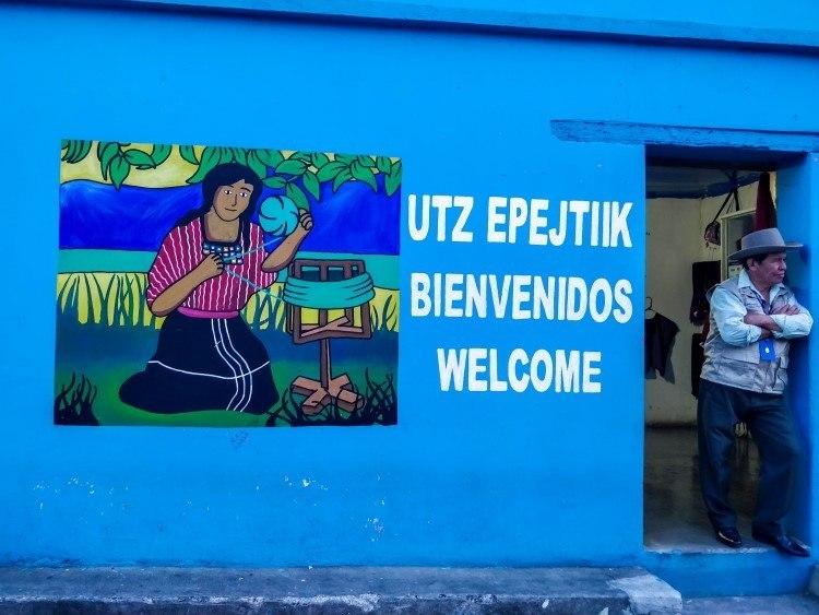 The Ixoq Ajkeen weaving cooperative in San Juan La Laguna, Guatemala