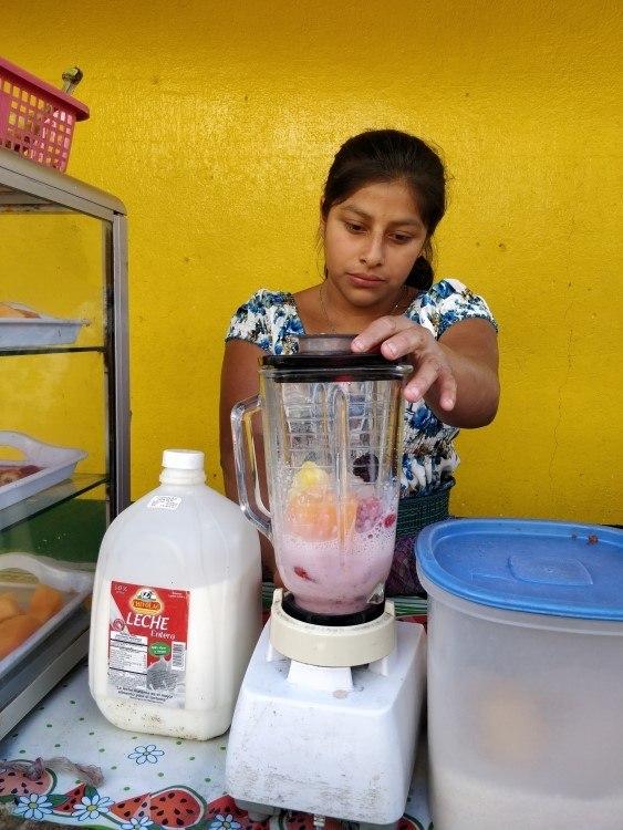 A street stand in San Pedro la Laguna, Lago Atitlan, Guatemala where single-use plastic has been banned.