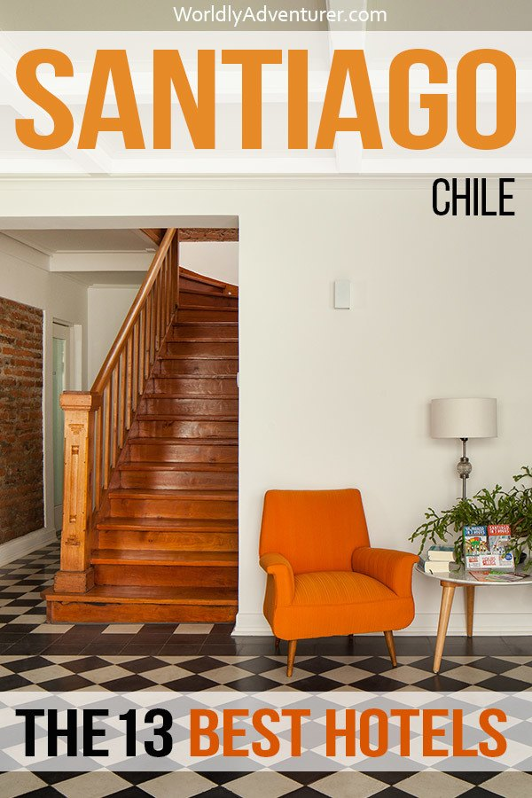 From charming boutiques in grand old neighbourhoods to affordable but chic hostels in the city's liveliest parts, you can find accommodation to suit all budgets with this guide to the best hotels and hostels in Santiago, Chile. #santiagochile #chile #santiagochileneighborhoods #providencia #lastarria #bellavista