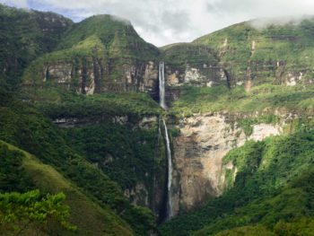 Gocta Falls near Chachapoyas, a Peru travel destination tucked deep into the highlands of the country.