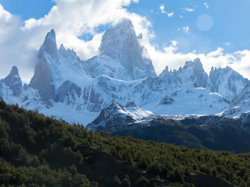 Monte Fitz Roy as seen from the trail to Laguna de los Tres in Argentine Patagonia