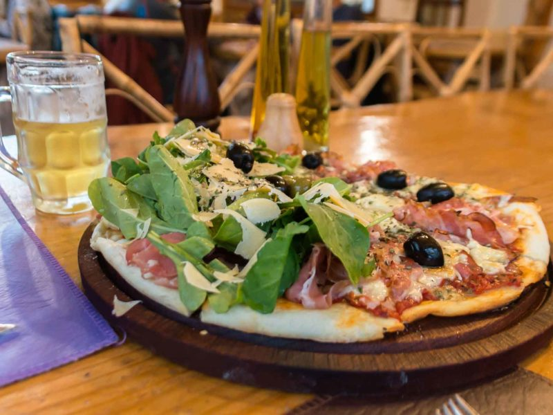 A pizza at Ruca Mahuida in El Chalten, Argentine Patagonia and a must-visit place on any Patagonia itinerary