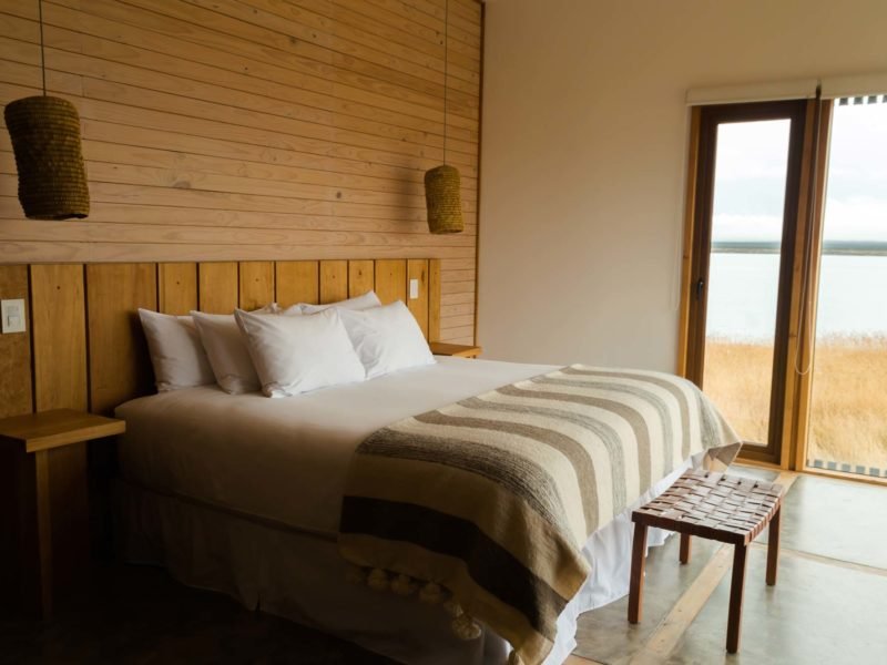 A bedroom at Hotel Simple in Puerto Natales, a must-visit destination for any Patagonia itinerary
