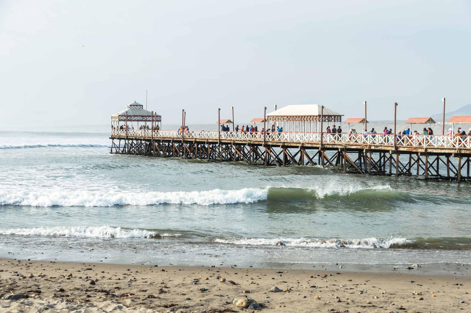 The pier in Huanchaco, Peru