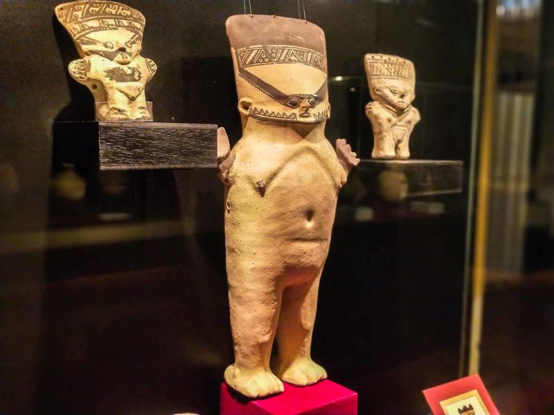 A stone figure from one of the Northern Peruvian civilisations on display in the Museo de Arqueologia y Antropologia