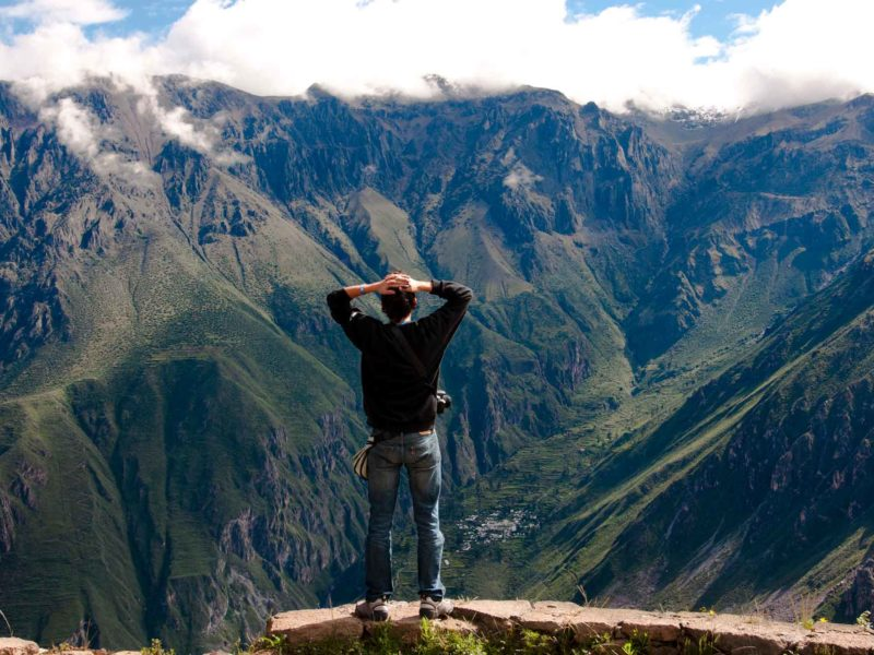 The Colca Canyon, a popular trekking destination to add to your trip to Peru