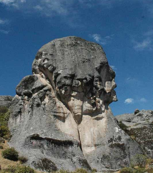 The Rock of Humanities in the Marcahuasi stone forest, an easy destination to visit on a trip from Lima