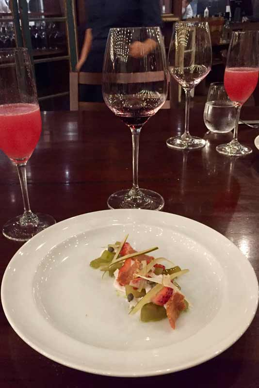 Pickled caiman served up in award-winning Gustu, one of Bolivia's finest restaurants