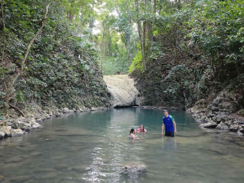 Bathers in the turquoise pools of the Seven Altars, a beautiful place to see in Guatemala