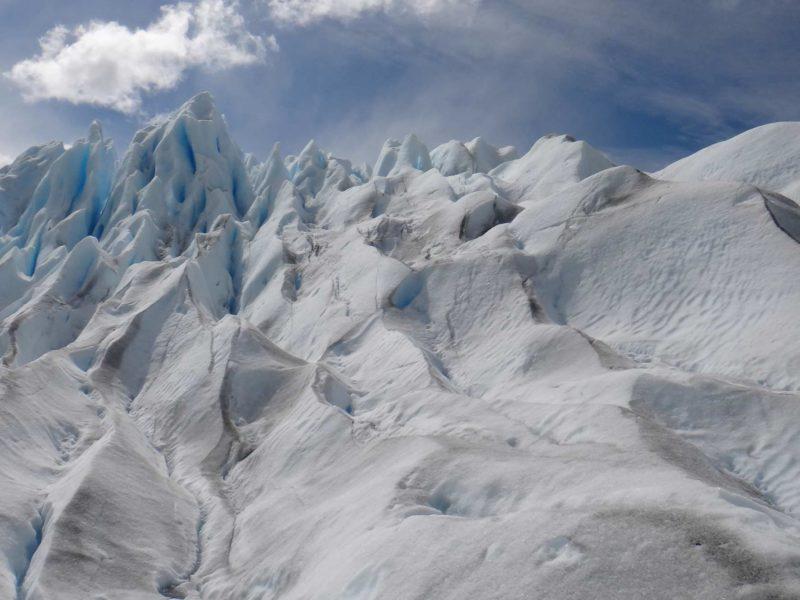 The crevasses of the El Perito Moreno Glacier, Argentine Patagonia's most famous glacier