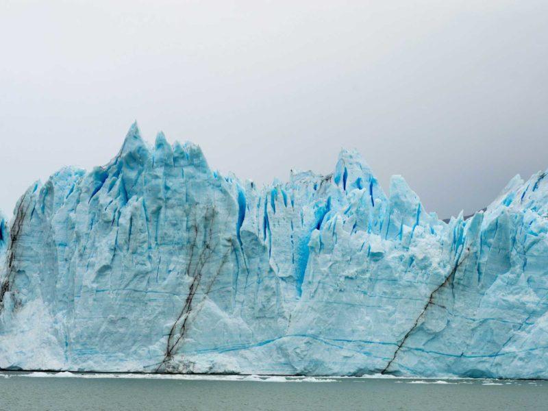 The egg-blue snout of the Perito Moreno Glacier rising out of Lago Argentino in Parque Nacional Los Glaciares near El Calafate