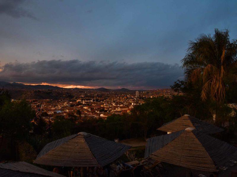 Bolivia Sucre Sunset at Cafe Gourmet Mirador