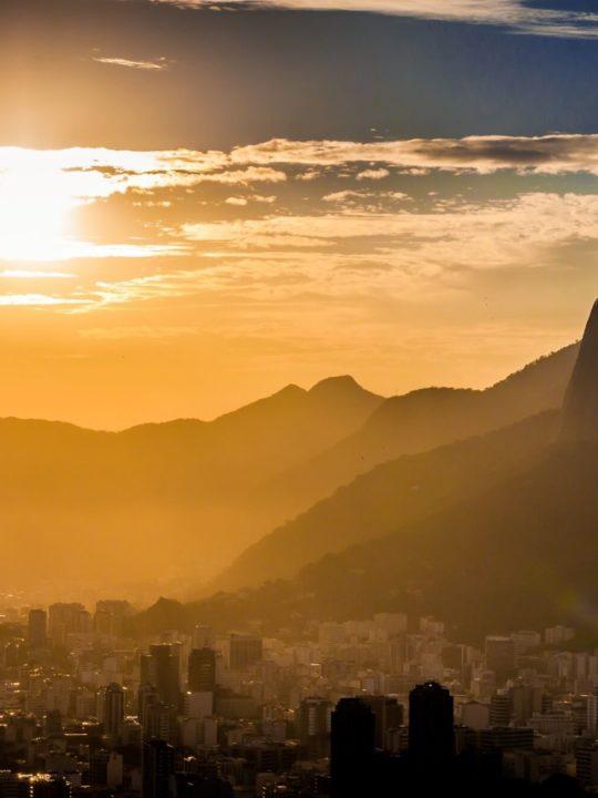 South America Rio de Janeiro at Sunset