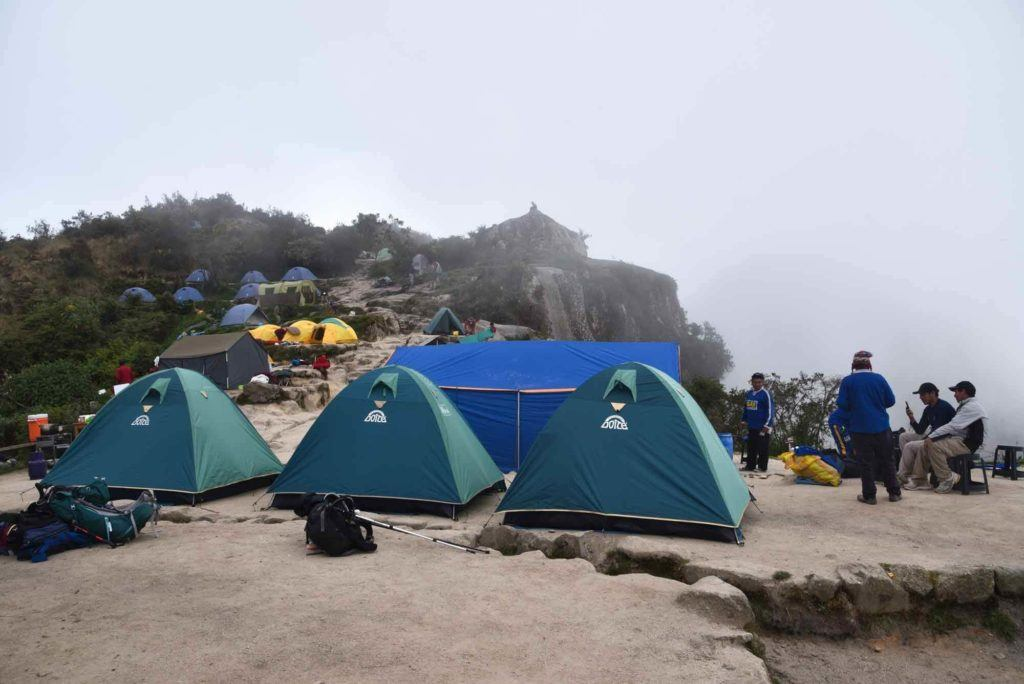 A foggy morning in camp on the Inca Trail.