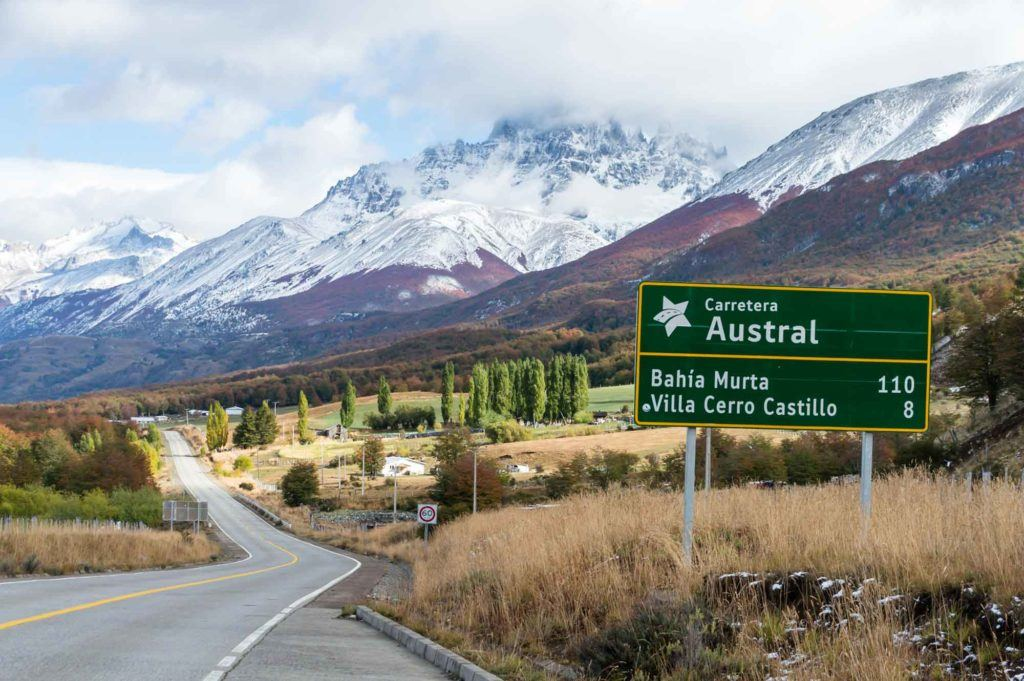Sign for Chile's Carretera Austral