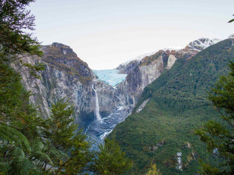 The Ventisquero Colgante (Queulat Hanging Glacier) Queulat National Park near Puyuhuapi along the Carretera Austral
