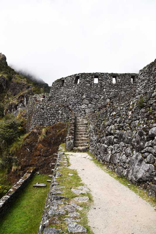 Sayamarca ruins as seen from hiking the Inca trail