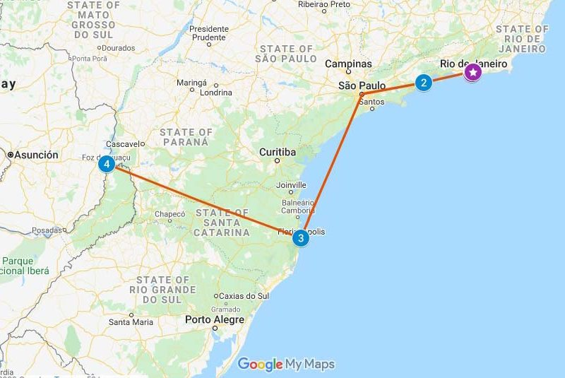 10 days in Brazil travel itinerary