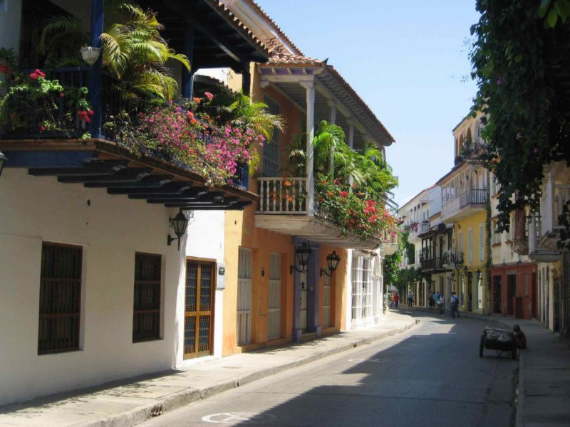 The old town of Cartagena Colombia.