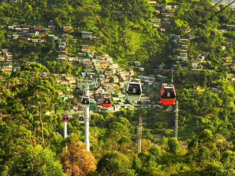 The cable cars in Medellin Colombia.