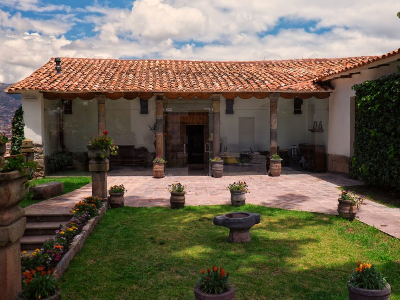 The colonial-style buildings of Palacio Manco Capac, a boutique hotel in Cusco