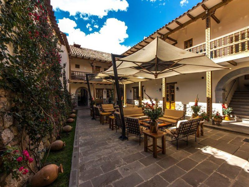 The courtyard of the Antigua Casona San Blas