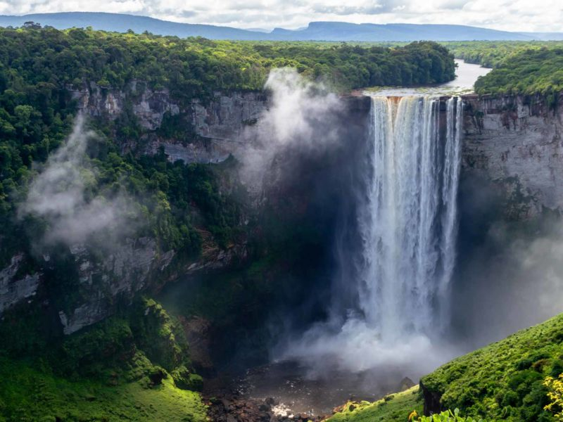 Kaieteur Falls in Guyana, South America and a hidden secret