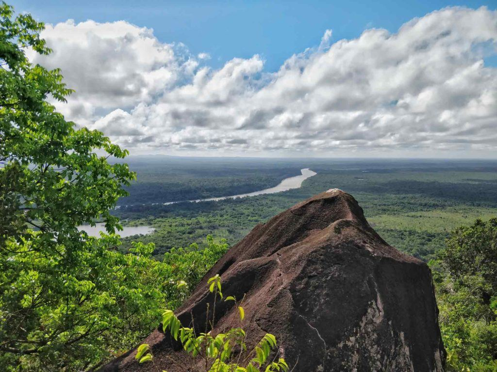 Views of the jungle from the Awarmie Mountain, a tourist attraction in Guyana