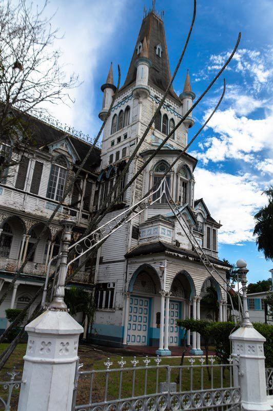 A church spire in Georgetown, Guyana