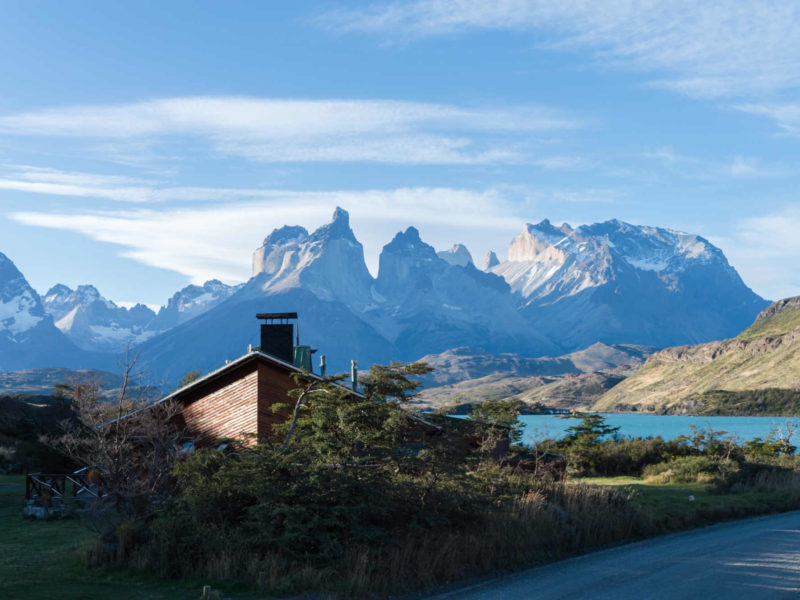 Torres del Paine offers both Day Hikes and lakeside campsites with beautiful mountain views
