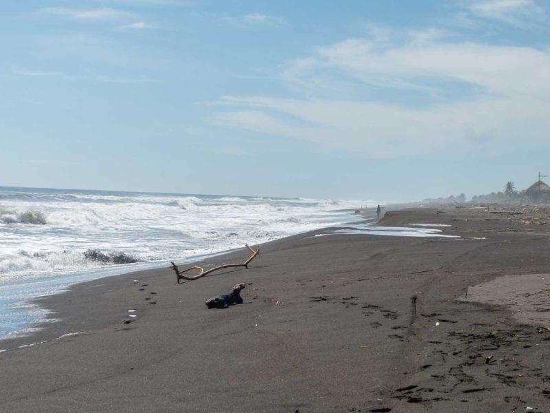 A beach at El Paredon, a surf community in Guatemala