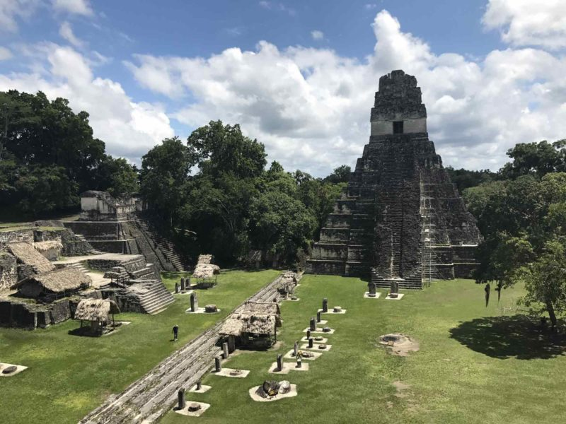 A temple at Tikal, Guatemala's most famous Maya archaeological site and a must-visit destination on a Guatemala itinerary