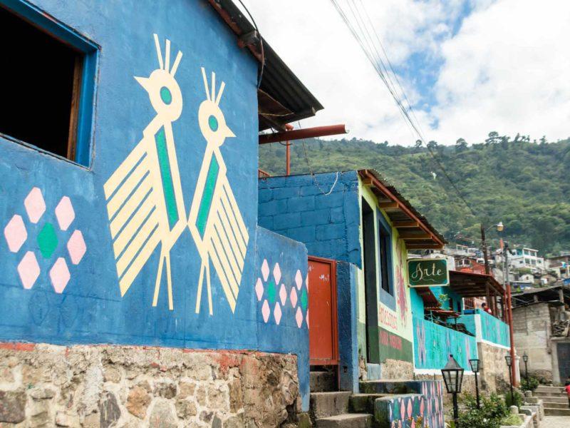 Murals in Santa Catarina Palopo, a village on Lago de Atitlan
