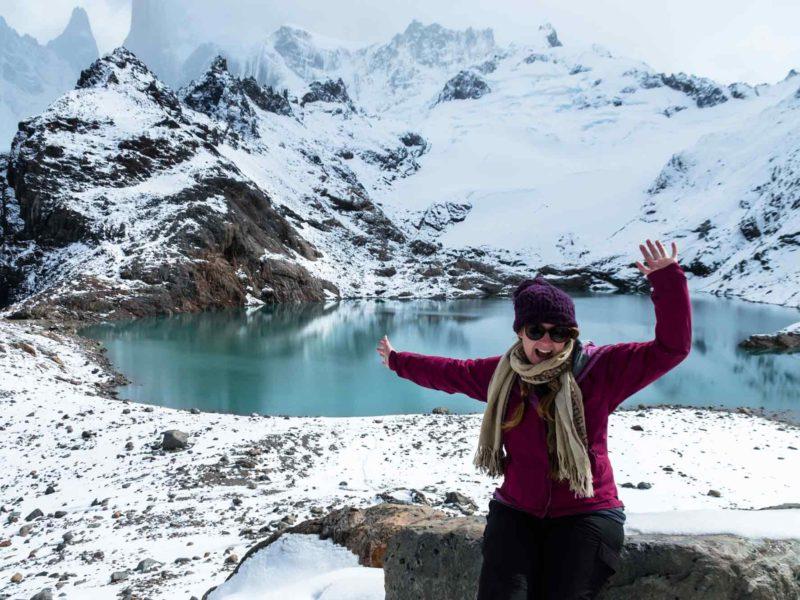 At Laguna de los Tres in Parque Nacional Los Glaciares, Argentine Patagonia